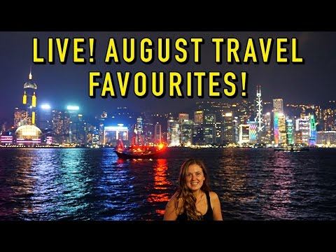 LIVE: AUGUST TRAVEL FAVOURITES & Q&A!! #AskAlyLive
