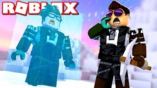 We are TRAPPED on the mountain! -Roblox Frosty Mountain (CAMPING) Danish with ComKean