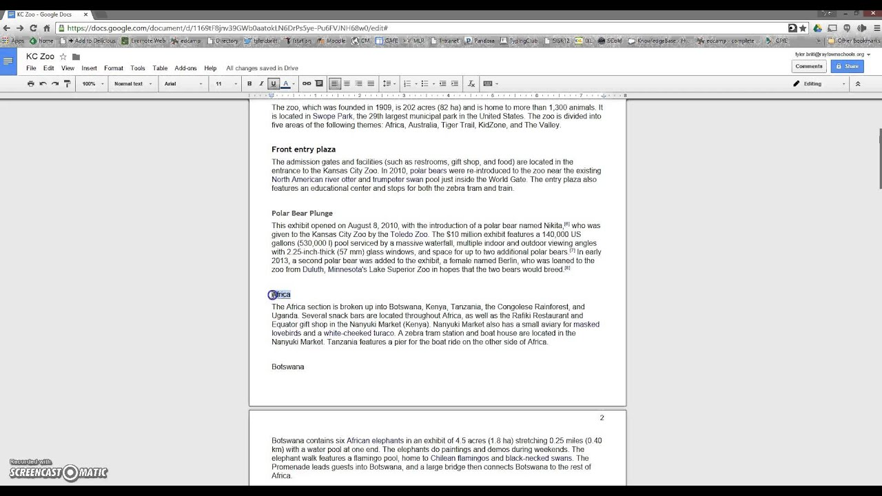 Charming Snack Pack #18    Inserting Page Numbers U0026 Creating Table Of Contents In Google  Docs