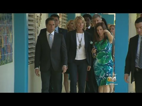 DeVos Visits Miami Dade College On Day 2 In Florida