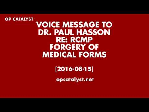 Canadian government forges my false psychiatric diagnosis 2016 08 26