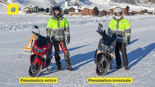 TCS comparativo: pneumatici invernali e estivi per gli scooter