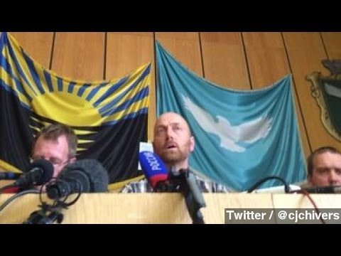 Captive Ukraine Observers Paraded In Front Of Press