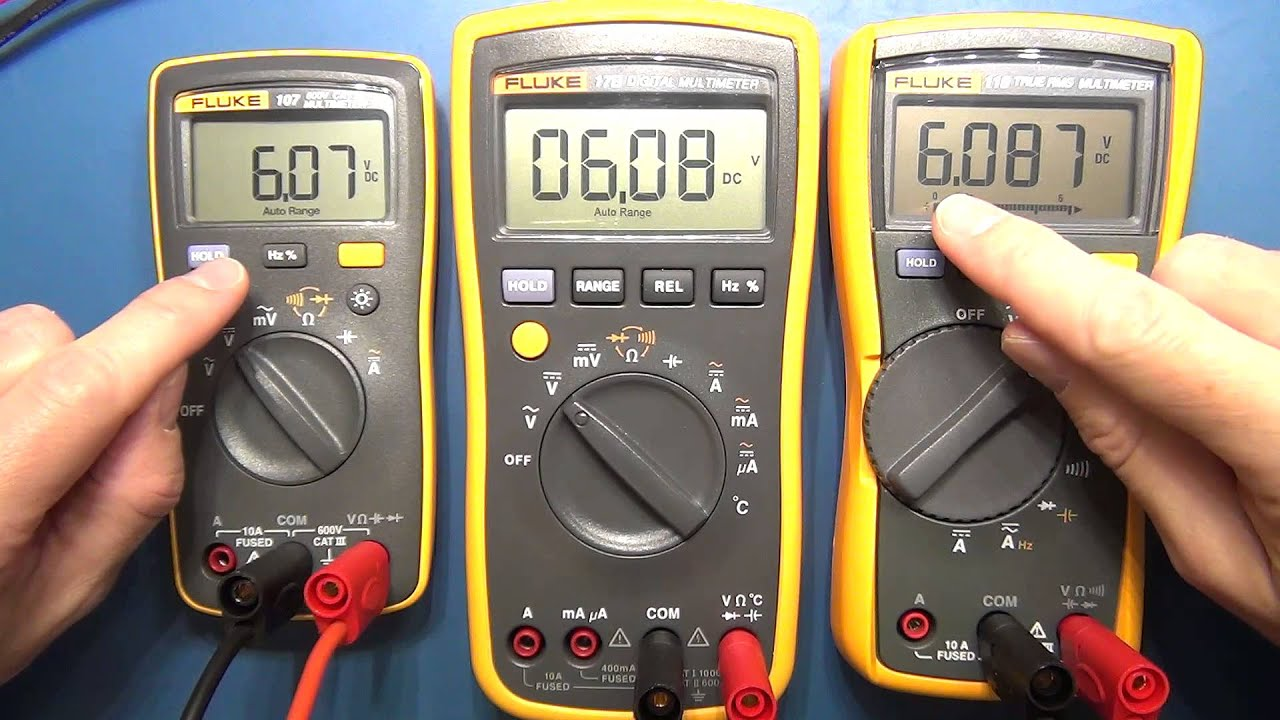 Review Pt 1 Fluke 107 Palm Sized Digital Multimeter Youtube How To Use A Dmm Using Radioelectronicscom