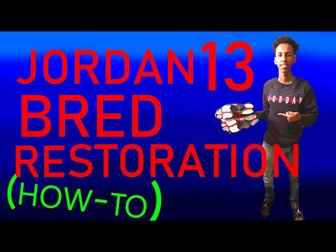 CLEANING JORDAN 13 BRED