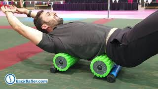 BIG BackBaller - Foam Rolling On A Stable Base.
