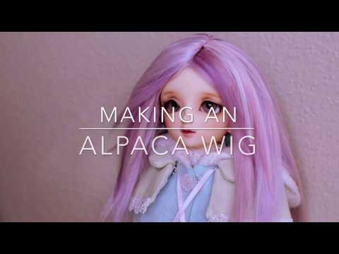 Making my first alpaca wig: what I learned