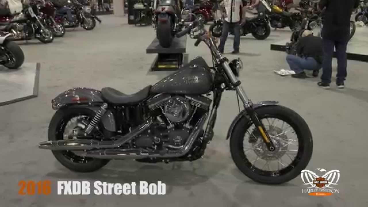 new 2016 harley davidson street bob motorcycle - youtube
