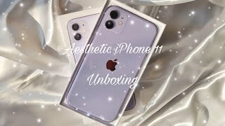2021 Purple iPhone 11 Unboxing + Accessories | Aesthetic, Calming  phone unboxing✨