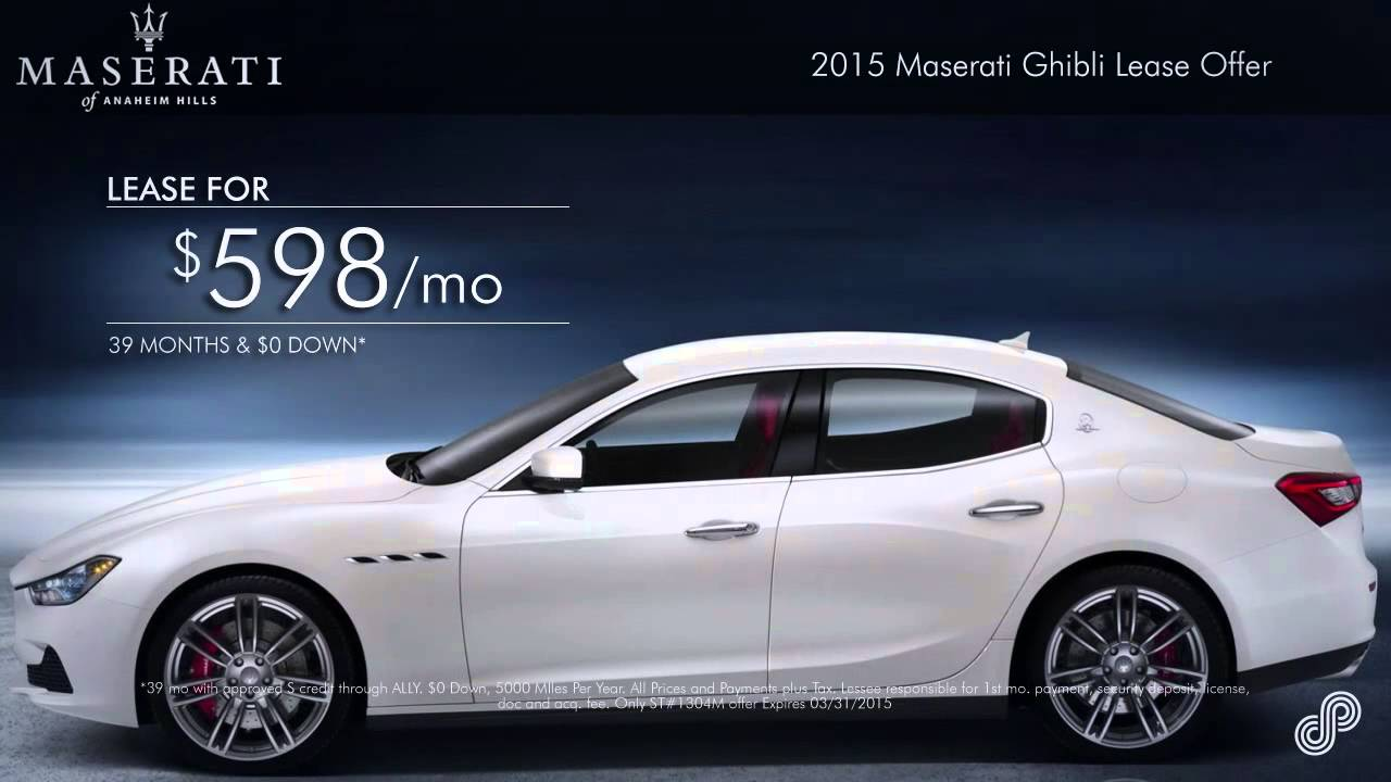 Maserati Ghibli Lease >> 2015 Maserati Ghibli Lease Offer Maserati Of Anaheim Hills Youtube
