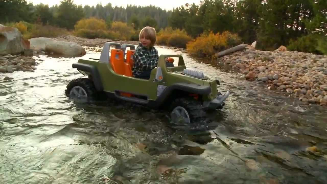 power wheels jeep hurricane with creek crossing - youtube
