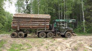 Сколько кубов стало входить в зауженные коники Урал лесовоз