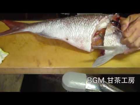 真鯛(67cm)を釣り師が捌く動画−2(洗い終了まで)