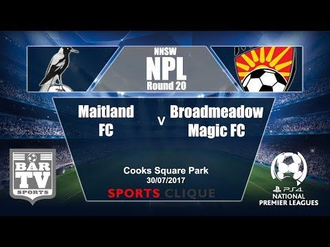 2017 Northern NSW NPL Round 20 Maitland v Broadmeadow Magic