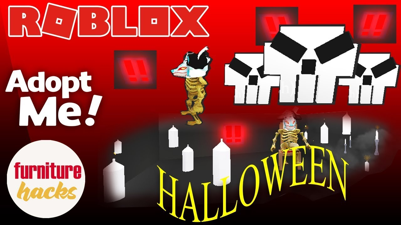 Adopt Me Furniture Hacks Halloween 2 The Possession Skull Art Bedroom Murder Bonus Hacks Youtube