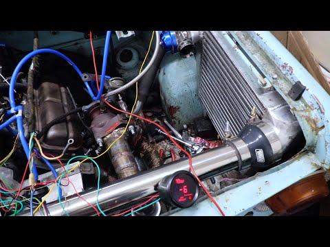 Инжекторный ТУРБО двигатель на Заз 968. Часть 10 (Первые звуки Blow-off)