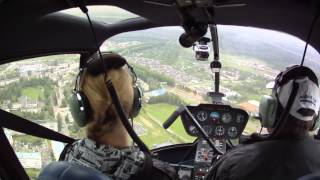 Полет на вертолете. Вид из кабины.(Вертолет Robinson R44., 2013-10-24T19:30:48.000Z)
