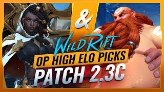 5 OP HIGH ELO Picks for Patch 2.3C - Wild Rift (LoL Mobile)