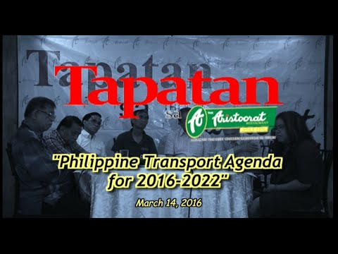 Philippine Transport Agenda 2016-2022