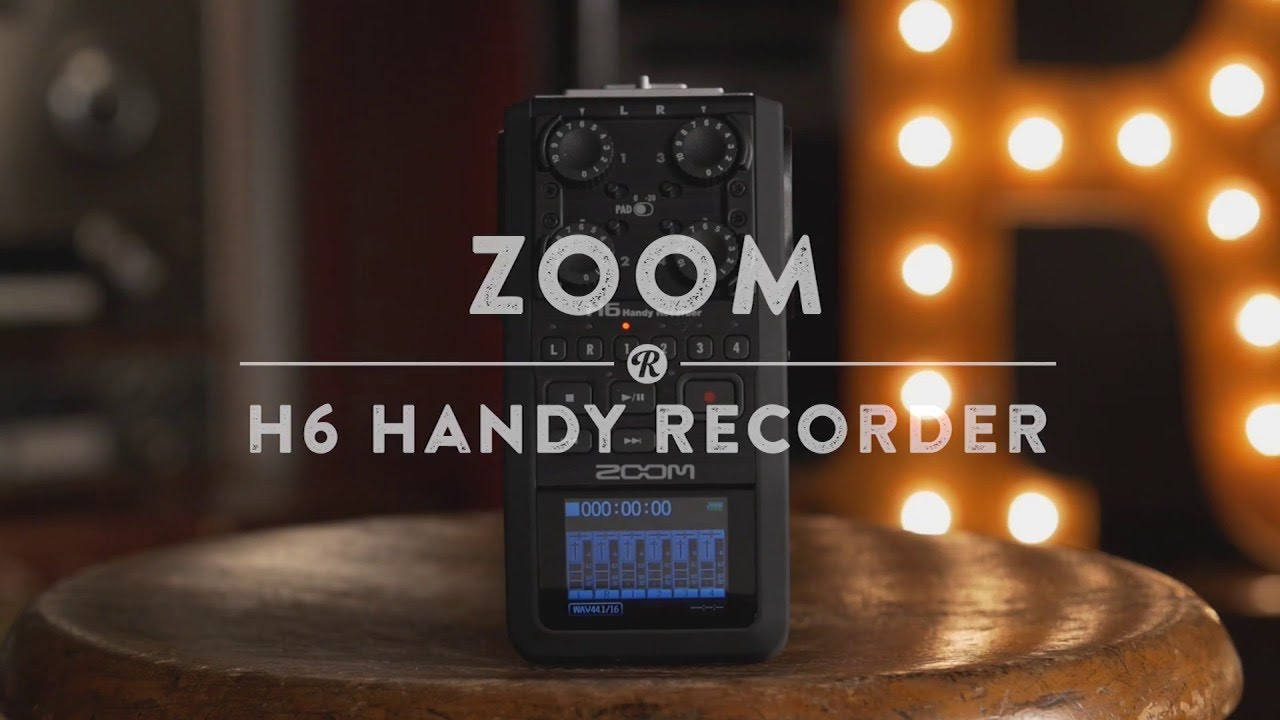 Zoom H6 Six-Track Portable Handy Recorder with | Reverb