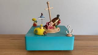 Undersea Treasure Hunt Music Box with Magnetic Moving Part