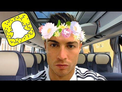 FAMOUS FOOTBALL PLAYERS SNAPCHAT VIDEOS! (ft. Pogba,Neymar,Ronaldo & more)
