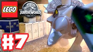 LEGO Jurassic World - Gameplay Walkthrough Part 7 - Dinosaur Rescue! (PC)