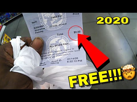 How To Get Your FISHING LICENSE FREE !!!