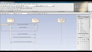 Sequence diagram using Enterprise Architect