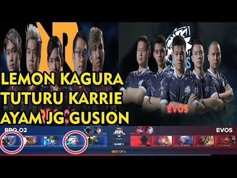 Kagura Lemon Is Back !! RRQ.O2 Vs EVOS Match 1 MPL Indonesia 2018 Season 2