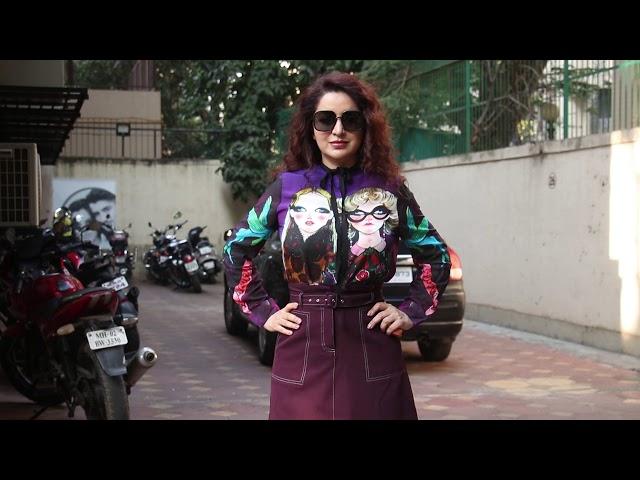 Tisca Chopra Got  Angry On Media  Spotted At Lokhandwala