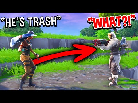 I Pretended To Mute My Mic And Talked TRASH To My SQUAD In Fortnite