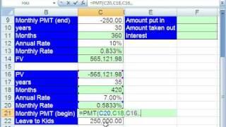 Highline Excel Class 51: Life Time Savings Plan