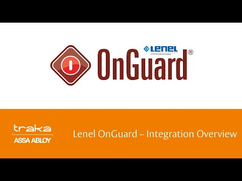 Lenel OnGuard Integration Overview