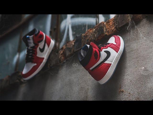"""0e38a6caf01b Air Jordan 1 Retro High OG """"Origin Story"""" (Spider-Man) Review – Sean Go"""