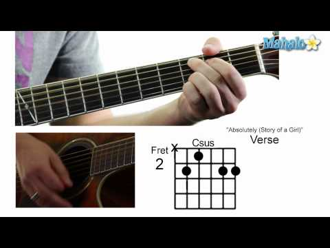 """How to Play """"Absolutely (Story of a Girl)"""" by Nine Days on Guitar"""