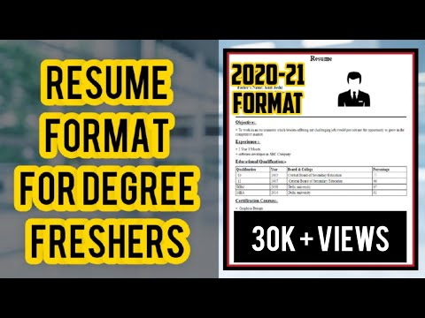 🔥Resume Format For Freshers  | Bca Bcom Bba Ba Bsc | Created Using MS Word 2020🔥
