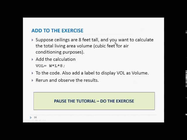 SAS - Tutorials - YouTube