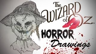 The Wizard of Oz Horror Drawings!