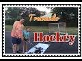 treinando hockey com o papai VEDA #7 Vivian em USA