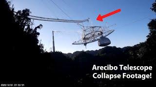 Shocking Footage of Arecibo Telescope Collapse   A Tribute to Arecibo