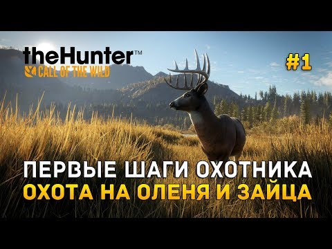 TheHunter: Call Of The Wild #1 - Первые шаги охотника. Охота на оленя и зайца (Первый Взгляд)