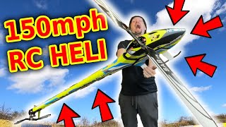 $3000 Carbon Fiber RC Stunt Helicopter 1st Fly