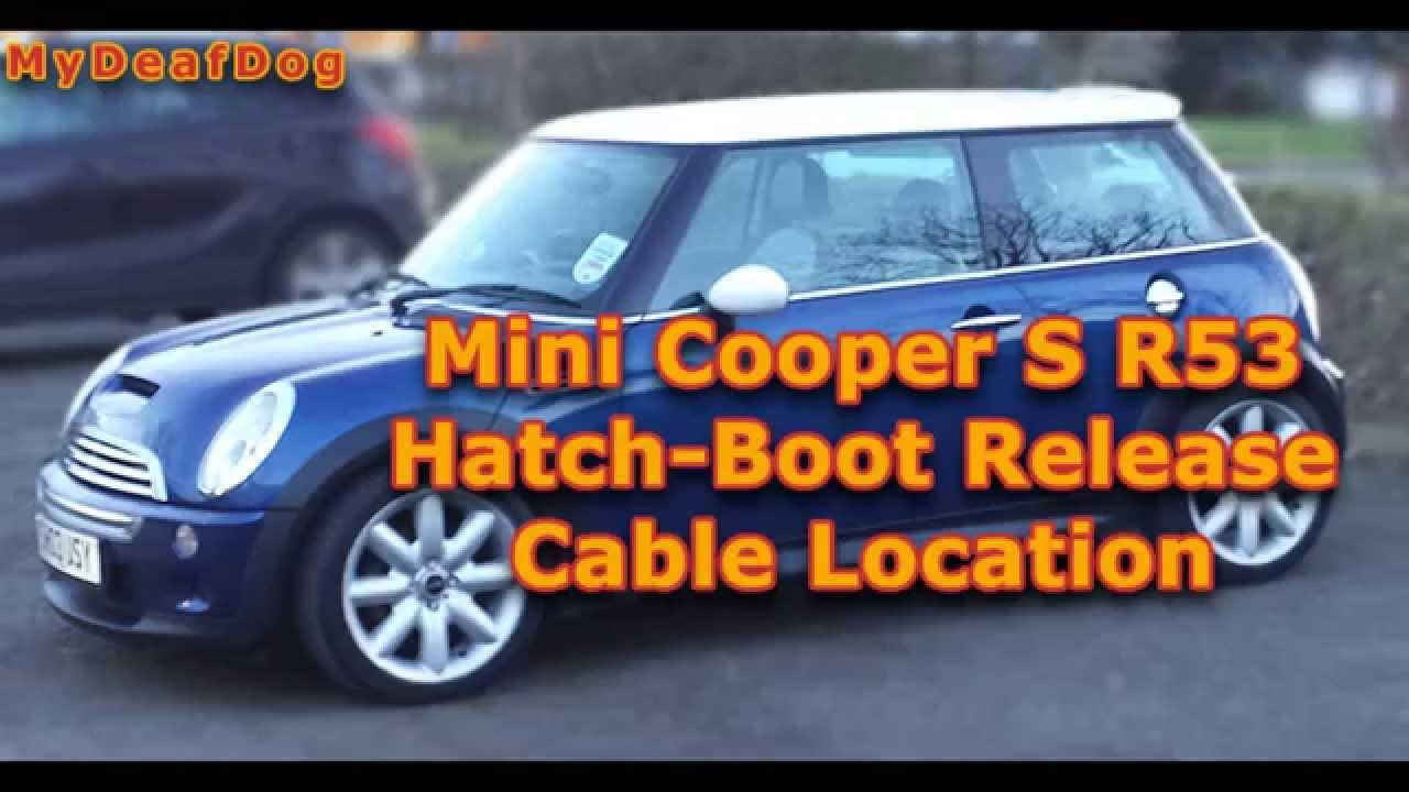 mini cooper s r53 2003 hatchback release cable location [ 1280 x 720 Pixel ]
