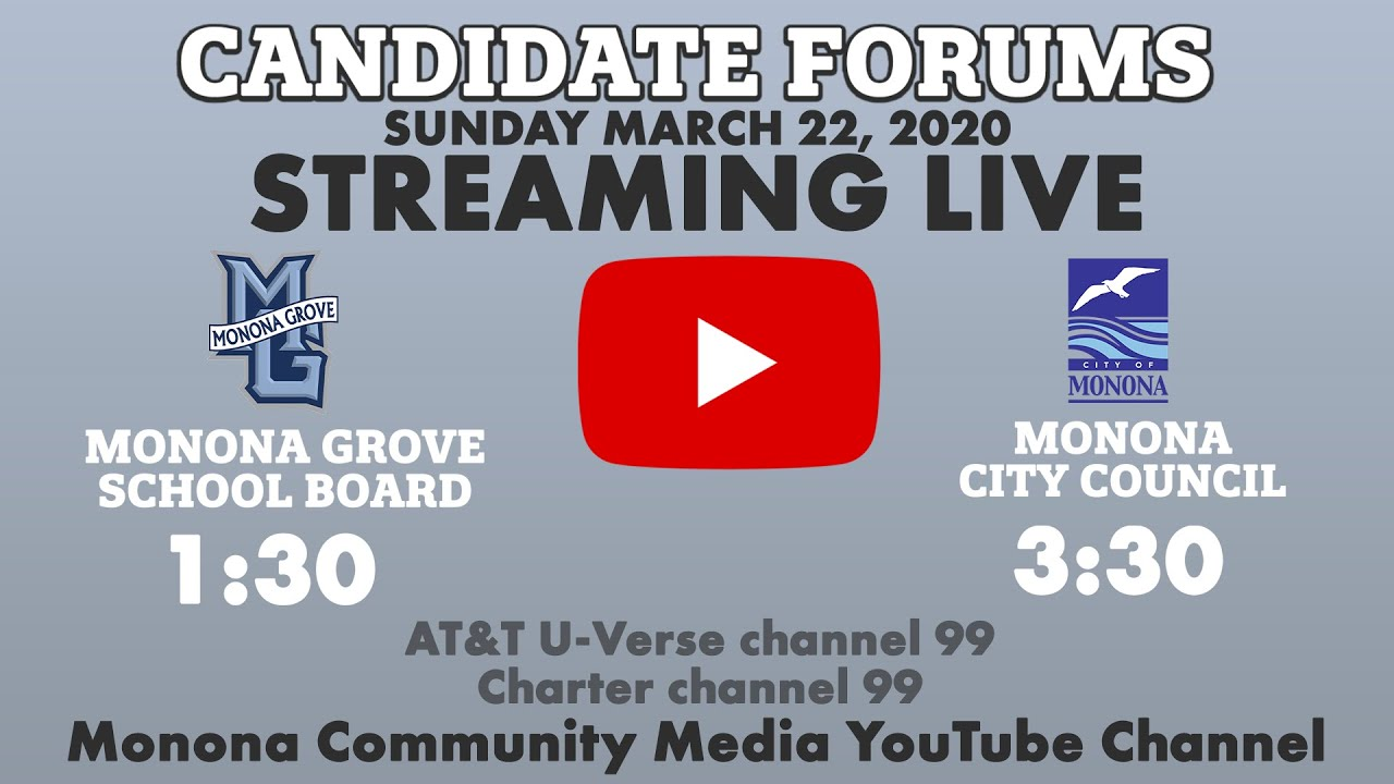 View the City Council & School Board Candidate Forums from 3/22/2020