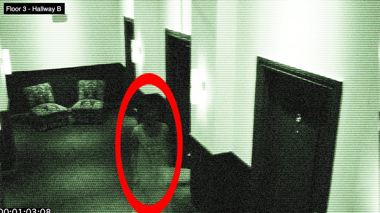 Ghost In Hotel Halloween - Caught Of Security Camera