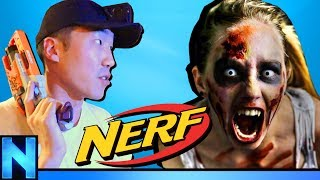 INTENSE NERF Zombie Game In Haunted Mansion!