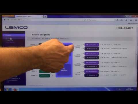 Lemco HCL-804CT Digital Headend Web Interface