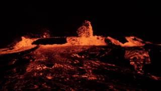 Erta Ale volcano lava lake overflowing 17 Jan 2017