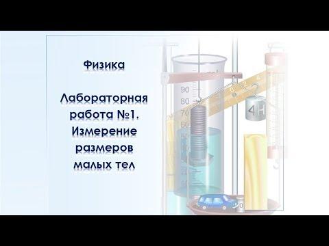 Виртуальная лабораторная работа по физике №1. Измерение размеров малых тел